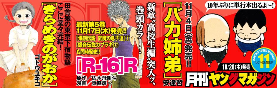 最新号:月刊ヤングマガジン11号